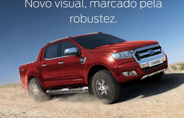 Nova-Ford-Ranger-ganha-página-na-internet. (Foto: Reprodução)