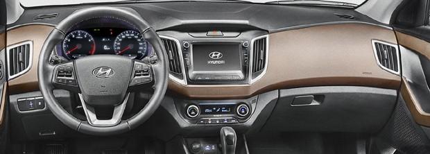 Detalhe do interior do Hyundai Creta (Foto: Divulgação)