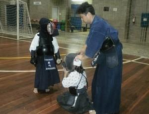 Academia de Kendô Fukuhaku de Suzano durante Campeonato Brasileiro 2012 (Foto: Arquivo pessoal)