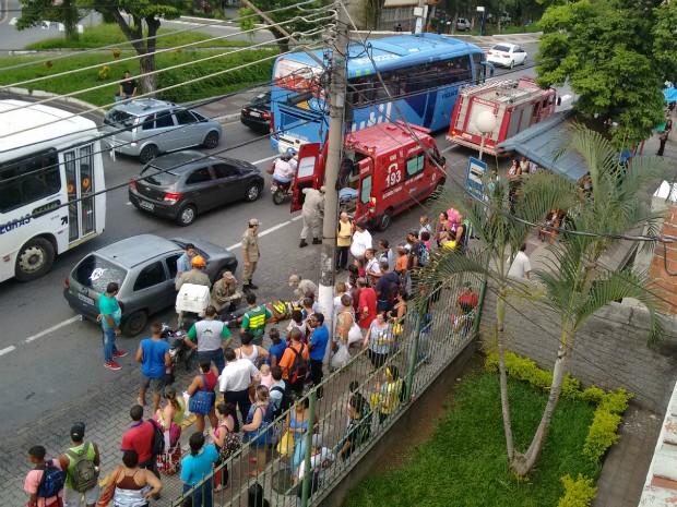 Acidente aconteceu próximo a rodoviária (Foto: Luciene Silva/Arquivo Pessoal)