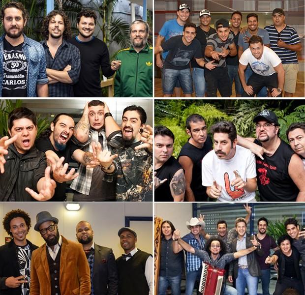Seis bandas se apresentam no primeiro dia de Duelos (Foto: SuperStar / TV Globo)
