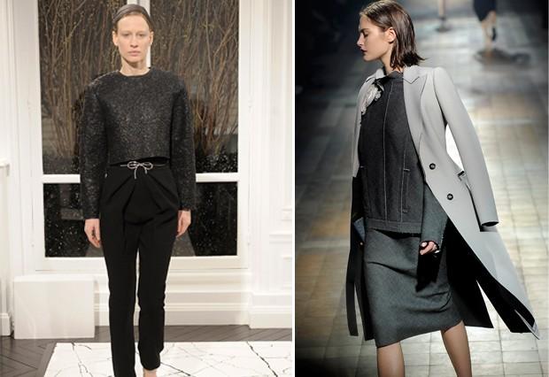 Balenciaga e Lanvin também alçaram a prosaica peça do guarda-roupa em puro desejo de moda (Foto: Getty Images)