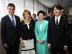 Príncipe e princesa da família imperial japonesa visitam Curitiba, no Paraná