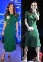 Mariana Ximenes repete look de Kate Middleton; quem vestiu melhor?