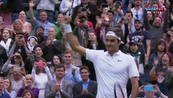 Sete vezes campeão do torneio, Federer  estreia com vitória em Wimbledon