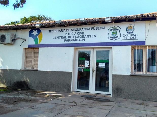 Central de Flagrantes de Parnaíba, no litoral do Piauí (Foto: Patrícia Andrade/G1)