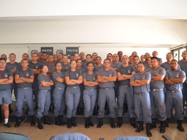 Simulação foi organizada pela turma de cabos da Polícia Militar do Amapá (Foto: Cassio Albuquerque/G1)