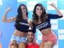Kadu Parga mostra força e 'levanta' Fernanda D'avila e Jaque Khury