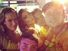 Em Salvador, Giovanna Ewbank posa com Nicole Bahls e amigos: 'Que noite'