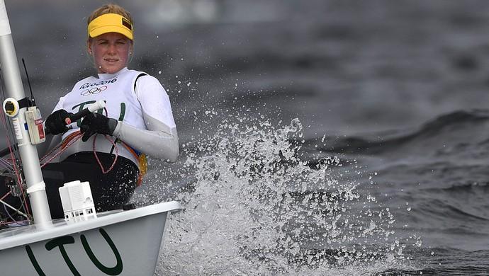 Gintare Scheidt; vela; olimpíada 2016 (Foto: WILLIAM WEST/AFP/Getty Images)