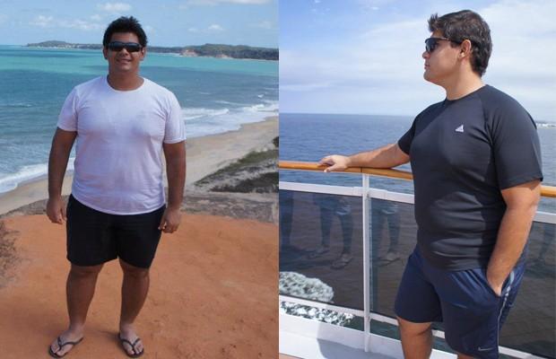 Depois de levar um ano para emagrecer 50kg, Alain recuperou, nos quatro anos seguintes, quase todo o peso de volta (Foto: Arquivo pessoal )