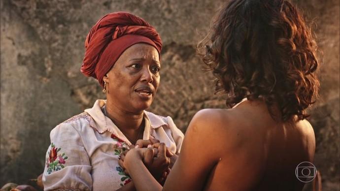 Doninha e Teresa se reencontram (Foto: Divulgação/ TV Gazeta)