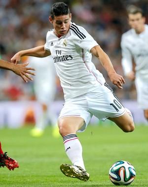 James Rodriguez Real Madrid e Atlético de Madrid (Foto: Agência AP)