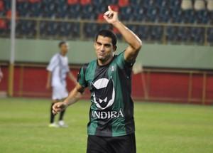 Bruno, lateral-direito do Andirá, fez o gol da vitória do time no primeiro duelo pela final do campeonato (Foto: Manoel Façanha/Arquivo Pessoal)
