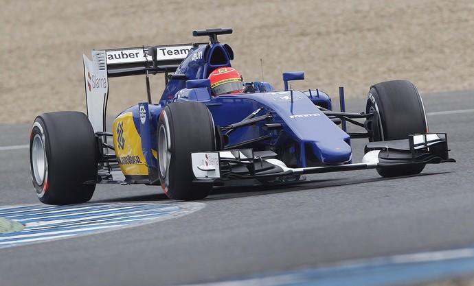 Felipe Nasr testes em jerez na Espanha Formula-1 F1 (Foto: AP)