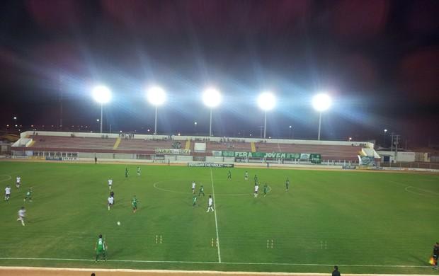 Alecrim x Potiguar de Mossoró no Estádio Nazarenão, em Goianinha (Foto: Antonio Netto/Inter TV Cabugi)