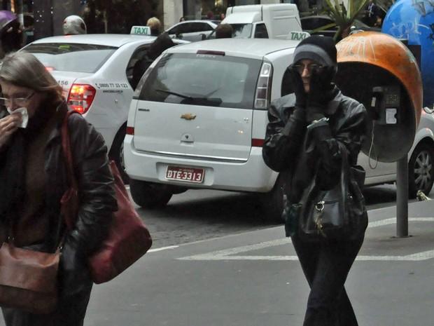 SP tem sensação térmica de 4°C na tarde desta quarta-feira, diz CGE (Foto: J. Duran Machfee/Futura Press/Estadão Conteúdo)