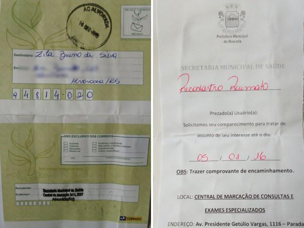 CArta foi enviada a paciente 11 anos depois de seu falecimento (Foto: Reprodução/Arquivo Pessoal)
