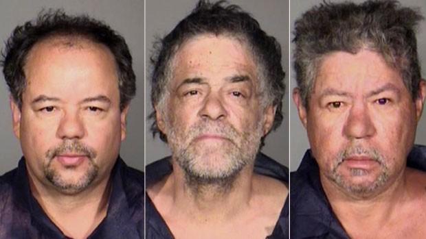A partir da esquerda, Ariel, Oneil e Pedro Castro, que foram presos pela polícia (Foto: Cleveland Police Department/AP)