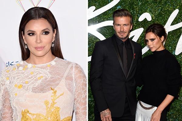 David e Victoria Beckham escolheram Eva Longoria como madrinha de sua filha, Harper (Foto: Getty Images)