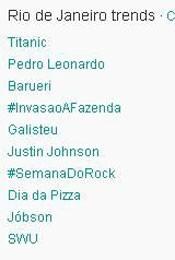 Trending Topics no Rio às 17h32 (Foto: Reprodução)