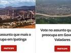 G1 quer saber o que mais preocupa o morador em Ipatinga e Valadares