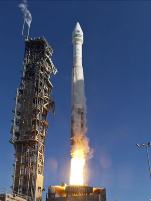 Espaçonave Landsat 8 foi lançada na Base da Força Aérea Vandenberg, na Califórnia. (Foto: REUTERS/NASA/ULA/Handout)