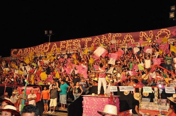 Assim, como nos anos anteriores, as torcidas deram um show à parte (Foto: Zé Rodrigues/ TV Tapajós)