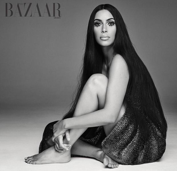 Kim Kardashian posa como Cher em ensaio (Foto: Mariano Vivanco)