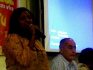 Claudia Durans completa a chapa do PSTU (Foto: Marcelo Mora/G1)