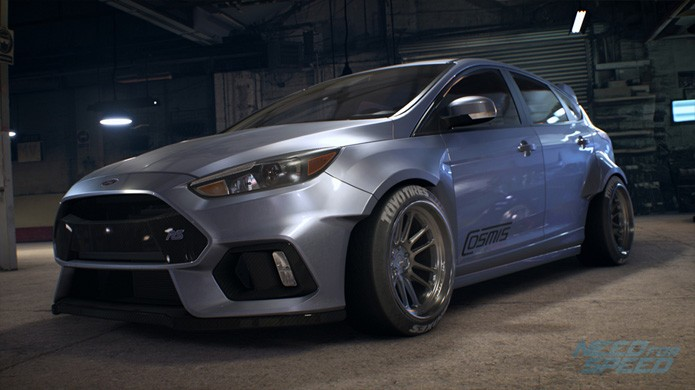 Perdemos os clássico Ford Shelby mas em compensação ganhamos o moderno Ford Focus RS (Foto: Divulgação/Electronic Arts)