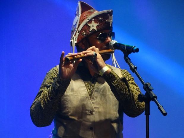 anderson do pife banda de pífanos zé do estado são joão de Caruaru (Foto: Lafaete Vaz/G1)