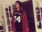 Sabrina Sato usa roupas do namorado: 'Se eu fosse você'