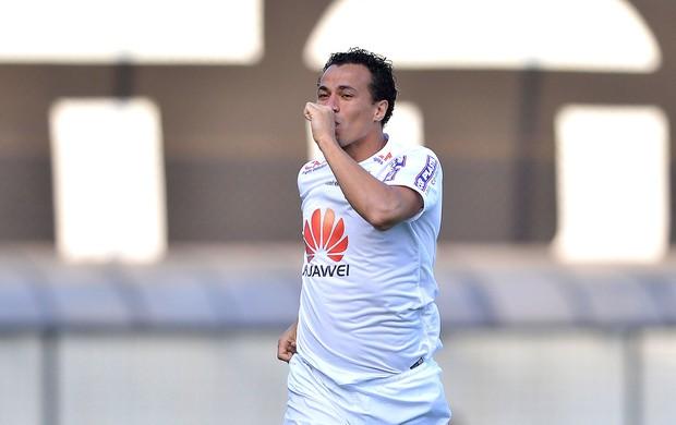 Leandro Damião comemora gol do Santos contra o Botafogo (Foto: Mauro Horita / Agência estado)
