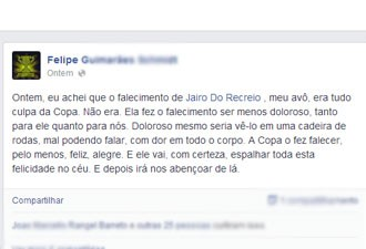 Neto mais velho homenageou o avô no Facebook (Foto: Reprodução / Facebook)