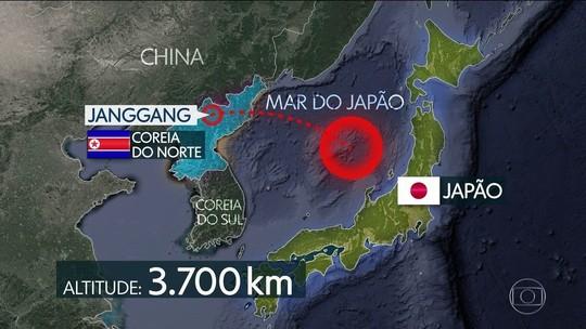 Coreia do Norte testa míssil, e EUA fazem exercício militar