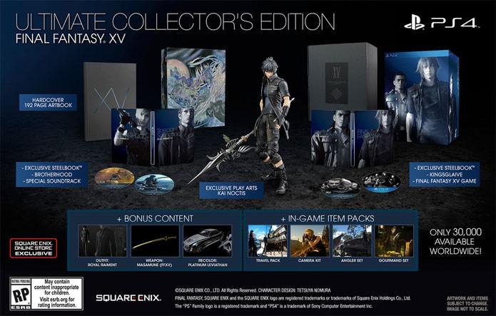 Edição especial mais cara de Final Fantasy 15 (Foto: Divulgação/Square Enix)