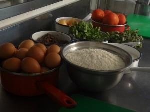 Ingredientes para o prato principal (Foto: Tatiana Pereira/RBS TV)