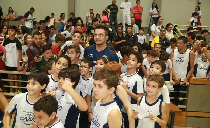 Falcão, Grand Prix, Futsal, Uberaba, treino, seleção brasileira (Foto: Enerson Cleiton)