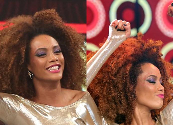Michele ama cores na maquiagem (Foto: Carol Caminha/Gshow)