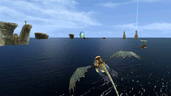 Poleiros de Dragão são marcados por grandes pilares de luz (Foto: rlsgame.org)