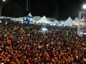 Público na Festa de São Sebastião em Bonito (Foto: Vital Florêncio / TV Asa Branca)