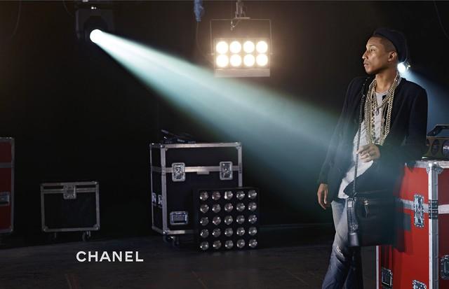 Pharrell na campanha da Chanel (Foto: Reprodução/WWD)