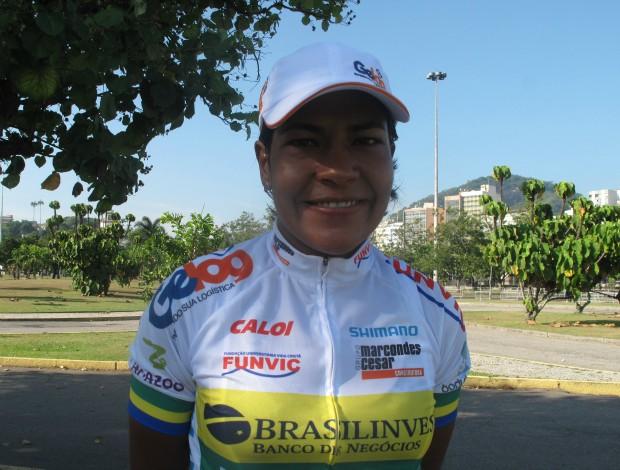 Luciene Ferreira campeã da Copa América de ciclismo no Rio (Foto: Ana Carolina Fontes)