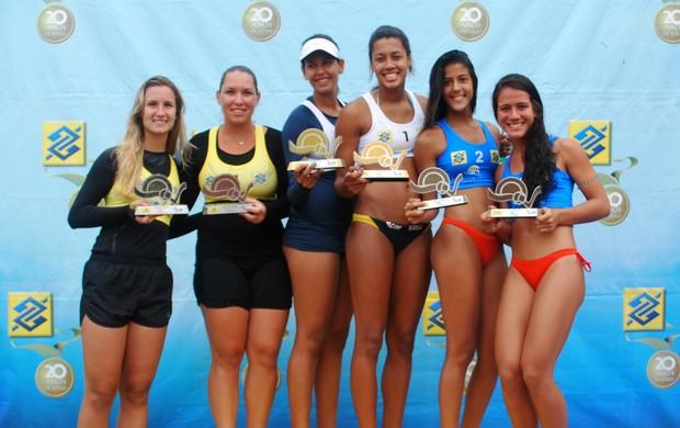Sergipana sobe ao lugar mais alto do pódio no Circuito Sub-21 de Vôlei de Praia (Foto: Divulgação /CBV)