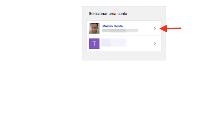 Definindo uma conta Google para usar o serviço IFTTT que integra YouTube ao Spotify (Foto: Reprodução/Marvin Costa)