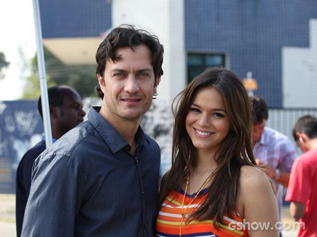 Bruna Marquezine e Gabriel Braga Nunes  (Foto: Em Família / TV Globo)