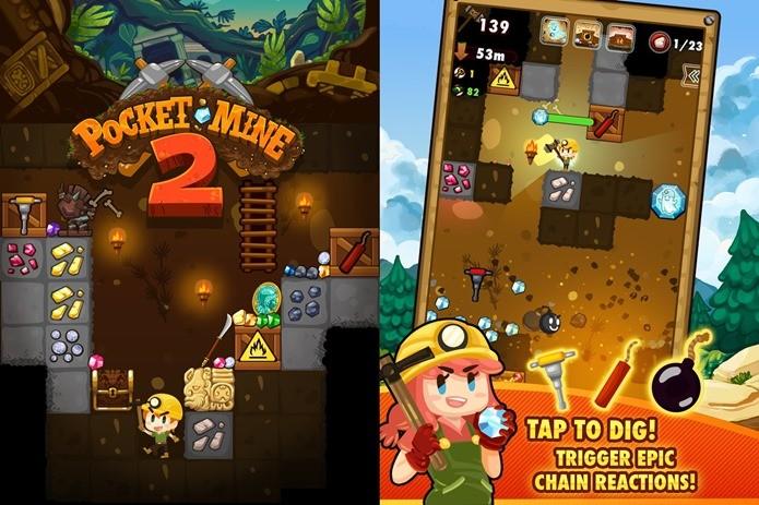 Ajude mineradores a descobrir tesouros perdidos neste jogo fofinho para Android (Foto: Divulgação)