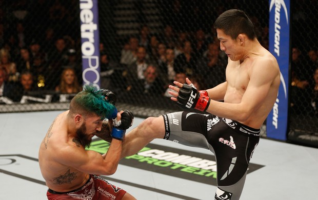 Louis Gaudinot x Kyoji Horiguchi - UFC 182 (Foto: GettyImages)