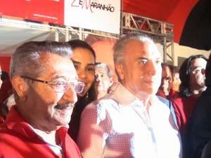 Michel Temer compareceu na convenção do PMDB (Foto: Jhonathan Oliveira/G1)